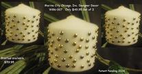 CUSTOM DESIGNER CANDLES WHITE GOLD PEARLS AT MARINACITYCHICAGOTV.COM