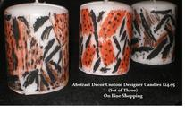 MARINA CITY CHICAGO GIFT SHOP GALLERY  ABSTRACT CUSTOM DESIGNER CANDLES  ON LINE SHOPPING