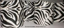 ZEBRA CUSTOM DESIGNER CANDLES AT MARINA CITY CHICAGO GIFT SHOP GALLERY