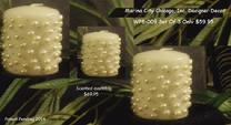 CUSTOM DESIGNER CANDLES WHITE PEARLS AT MARINACITYTV.COM